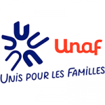 Logo Union nationale des associations familiales (UNAF)